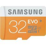 Samsung Memory 32GB EVO MicroSDHC UHS-I Grade 1 Class 10 Speicherkarte Memory Card (bis zu 48MB/s Transfergeschwindigkeit) mit SD Adapter